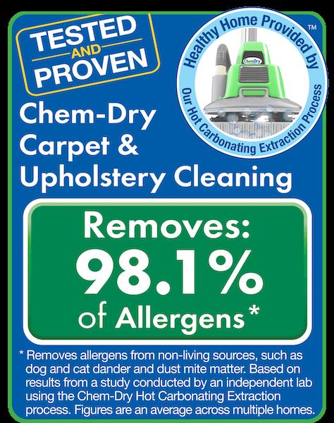 chem dry removers allergen test results